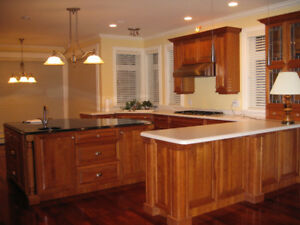 Beautiful Cherry Wood Kitchen cabinets