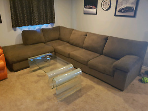 Brown Sectional Couch from The Brick