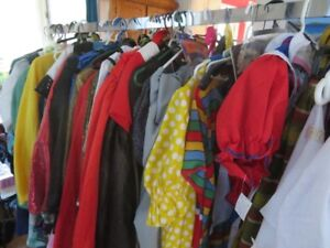 Yard Sale of Adult Costumes and Accessories