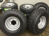 New agri trailer wheels 10/75-15.3 for silage baler trailers