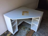 BORGSJO WHITE DESK COLLECTION ONLY