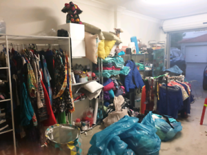Garage sale, all going cheap, lots of ladies designer clothes