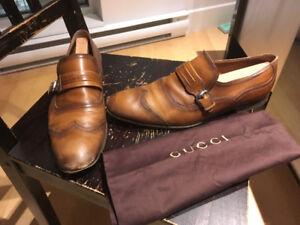 Chaussure Gucci cuir monkstrap loafer size 11 U.K. 10