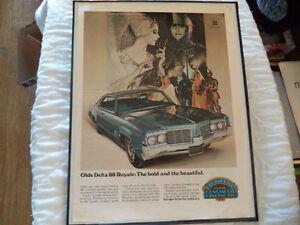 OLD OLDSMOLBILE  CLASSIC CAR FRAMED ADS Windsor Region Ontario image 7