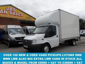 2012 62 FORD TRANSIT 350 LWB LUTON VAN TAILIFT 1 OWNER 125 BHP DIESEL