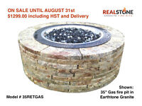 Wood or Gas Granite Stone Fire pits - 15% OFF sale in August!