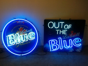 Large Electric Beer Signs: Labatt Blue EUC Price is per sign
