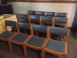 12 Green Restaurant Chairs, Take All For $250 Delivery Included