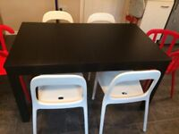 IKEA Bjursta dining table and 6 chairs