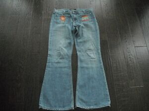 Ladies Light Blue Juicy Couture Wide Leg Jeans Size 32 London Ontario image 2