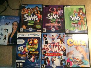 Lots jeux ordinateur Sims Sims 2 Catz Rayman Yogadvd)