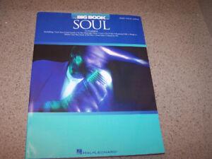 THE BIG BOOK OF SOUL - piano & guitar music book -