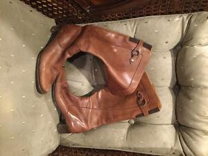 Italian leather boots