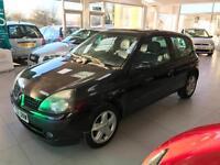 2002 Renault Clio 1.2 16v Dynamique - MOT 12/17- 8 Serv Stamps - 1 Former Keeper