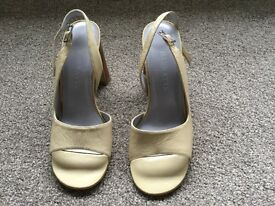 New beige leather shoes