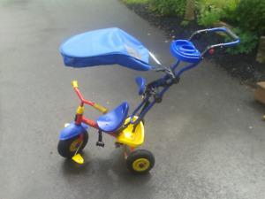 child's trike push cart
