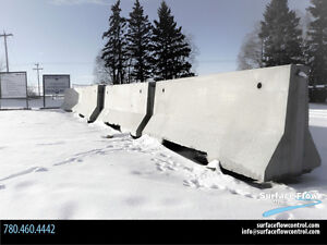 """Jersey Barriers – """"seconds""""   Surface Flow Control"""