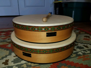 "2 Bodhran Drums! 18"" and 16"""