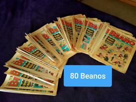80 x Beano comics vintage 1975 - 1984 job lot bundle collector