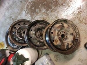 """4 jante Subaru 5x100 16"""" 4 original possibilité de pneu 205-55-1"""
