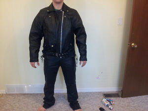 Hot Leathers Genuine Leather Motorcycle Suit Cambridge Kitchener Area image 2