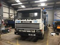 Scania 93m 26 ton beaver tail hydraulic ramps