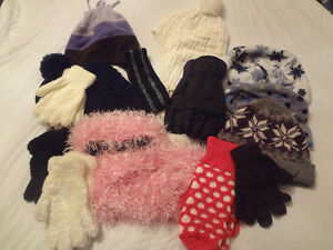 13 Pcs. Assorted Hats,Mittens...... Size 8-10