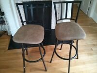 2 - like new - tall swivel bar stools $40.00 obo for both