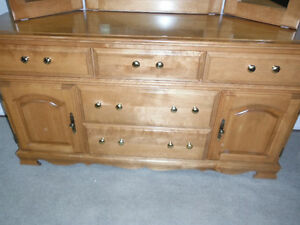 5 Drawer Dresser, Solid Wood, with 3-way Mirror, Delivered