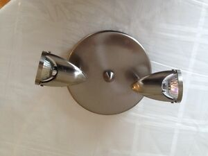 Brushed nickel flush mount light fixture