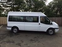 FORD TRANSIT T370 15 SEATER MINIBUS 140BHP 6 SPEED GEARBOX 55,000 MILES 1 OWNER FSH
