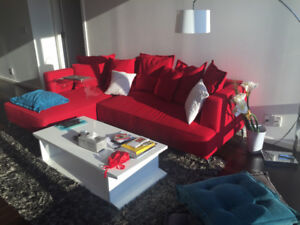 Amazing condition L-Shaped Sectional Red Sofa from Structube!