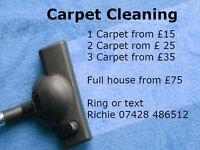 CARPET CLEANING from £15