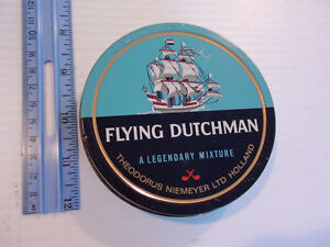 ANCIENNE BOITE RONDE TABAC À PIPE FLYING DUTCHMAN Hollande