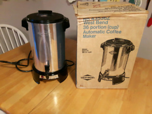 West Bend 36 cup automatic coffee maker urn silver aluminum