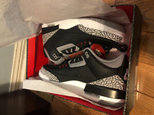 black cement 3s size 10 brand new 230 price is firm