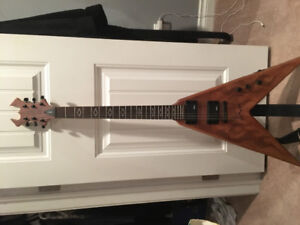 BC Rich Speed 5 Flying V Laser Flame Guitar