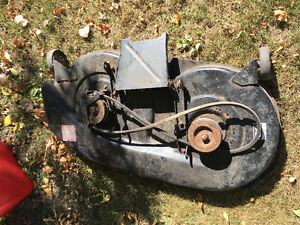 """Lawn mower deck 38"""" & new hedge trimmer"""