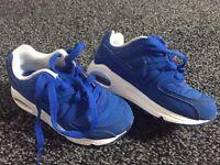 Blue Nike Air Max kids size 10