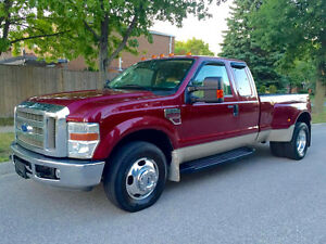 RARE RARE  2008 FORD F-350 LARIAT DULLY DIESEL,  6 SPEED MANUAL!