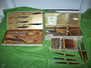 2    ANTIQUE / VINTAGE CUTLERY SETS**SEE EACH SET PRICE**