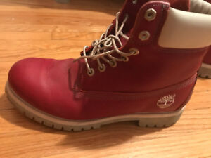 Timberland boots - Maroon like new