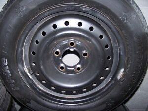 USED set of winter tires on steel rims for Honda Civic