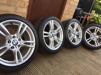 "Genuine BMW 3 &4 Series 18"" 400M M Sport Alloy Wheels & Tyres F30 F31 F32 F33 F36"