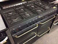 Belling 8 ring dual fuel range cooker