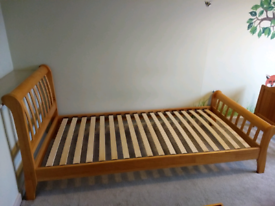 Solid wood single bed. Great condition