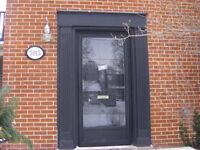 Solid Wood 6 panel exterior door and full lite storm/screen