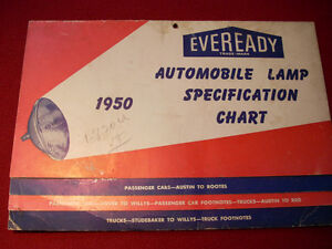 1950 Eveready lamp guide