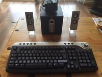 Dell keyboard & Advent speakers