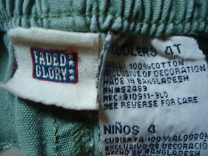 Boys Size 4 Faded Glory Khaki Style Light Green Pants Kingston Kingston Area image 3